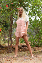 Load image into Gallery viewer, Thatch + Catcher Cleo Dungarees tea rose, free shipping, Thatch + Catcher Dungarees, sustainable dungarees, ethical dungarees, tea rose colour dungarees, linen dungarees, linen playsuits, bohemian dungarees, summer new arrivals