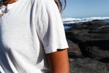 Load image into Gallery viewer, The Bare Road Everyday Hemp Tee White, Free shipping, Sustainable hemp tees, Ethical hemp tees, Hemp Basics, White tees, Sustainable basics, Bohemian tees, Basic tees, summer new arrivals, women's loungewear australia