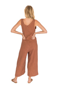 The Bare Road Charley Jumpsuit Maple Brown Womens Jumpsuit Free Express Shipping Free Returns Free Standard Shipping Worldwide Afterpay $20 off your first order