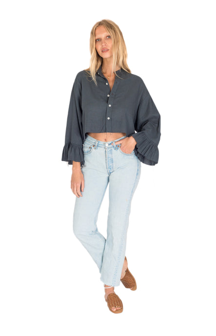 The Bare Road Lou Lou Shirt Charcoal Womens Top Womens Shirt Charcoal Free Express Shipping Free Returns Free Standard Shipping Worldwide Afterpay $20 off your first order