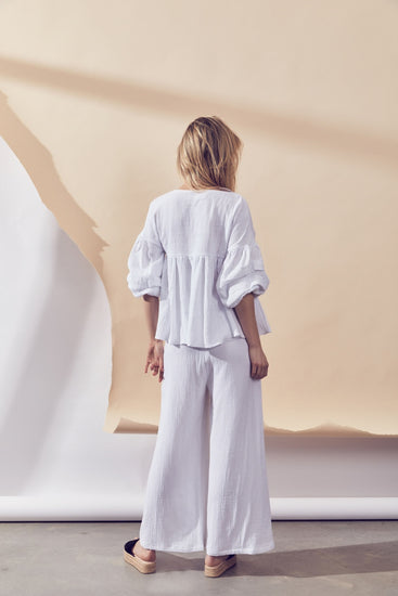 Shore Pant – White Texture by Lune Resort Loungewear Australia