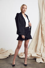 Load image into Gallery viewer, MLM LABEL | WRAP LINEN BLAZER - BLACK