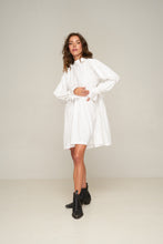 Load image into Gallery viewer, Alexa Dress White by Rue Stiic Online at Jessie Sue with FREE EXPRESS shipping & FREE RETURNS in Australia. FREE STANDARD shipping WORLDWIDE (minimum spend $150), AFTERPAY.  $20 OFF your first order, 100% SAFE & SECURE Made from 100% cotton, the Alexa Dress is featuring loose fit through the body and voluminous sleeve