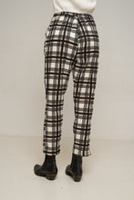 Load image into Gallery viewer, Amanda Pant Black Gold Plaid by Rue Stiic Online at Jessie Sue with FREE EXPRESS shipping & FREE RETURNS in Australia. FREE STANDARD shipping WORLDWIDE (minimum spend $150), AFTERPAY.  $20 OFF your first order, 100% SAFE & SECURE. Amanda Pants are made from cotton and feature a hand printed check pattern with a high