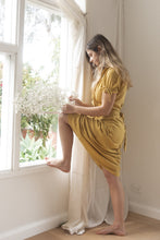 Load image into Gallery viewer, sustainable clothing brands resort wear australia sustainable clothing remi lane designs prairie dress mustard free express shipping midi length