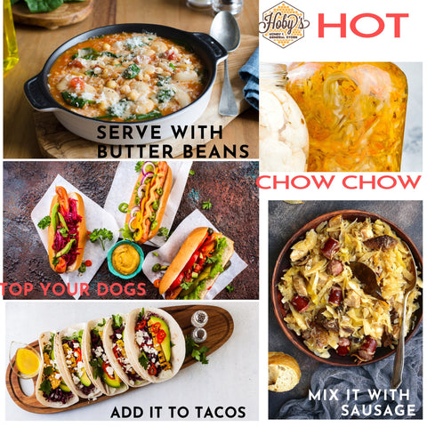 ways to use hot chow chow
