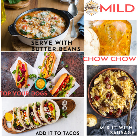 ways to use all natural mild chow chow
