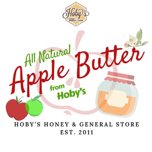 all natural apple butter graphic