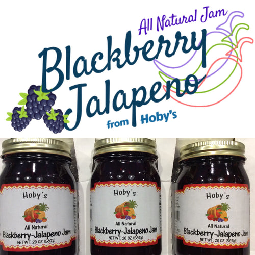 blackberry jalapeno jam 3 pack with graphic