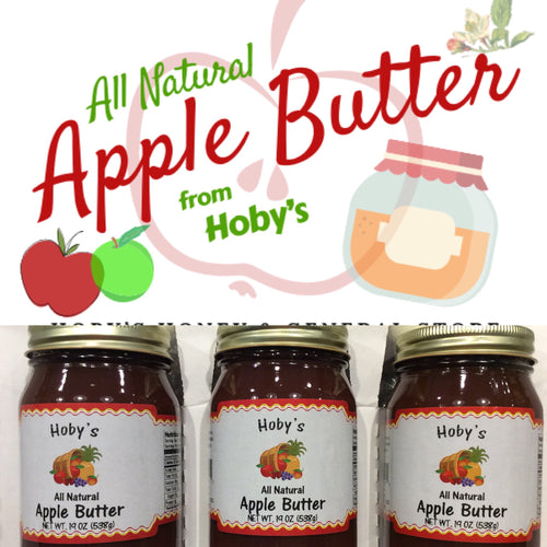 all natural apple butter 3 pack with graphic