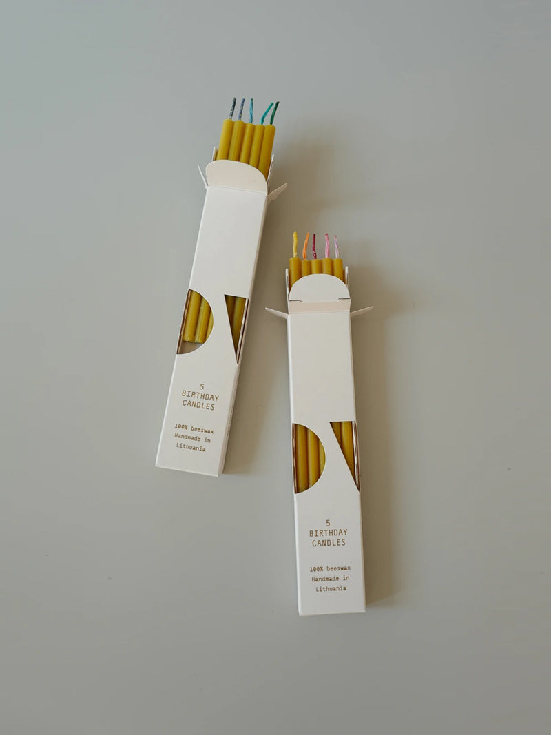 Natural Beeswax Birthday Candles