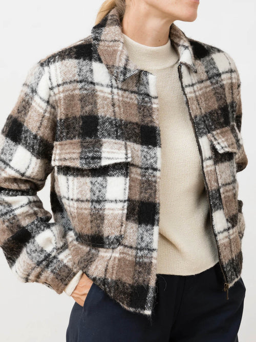 Greta Alpaca Jacket Checkered