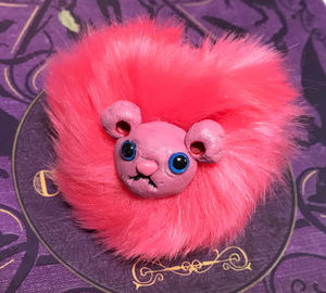 Pygmy Puff Keychain or Pin on Shoulder Friend