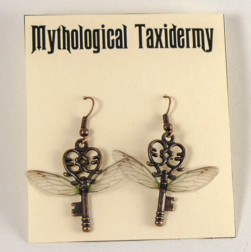 Flying Key Earrings Inspired by Harry Potter