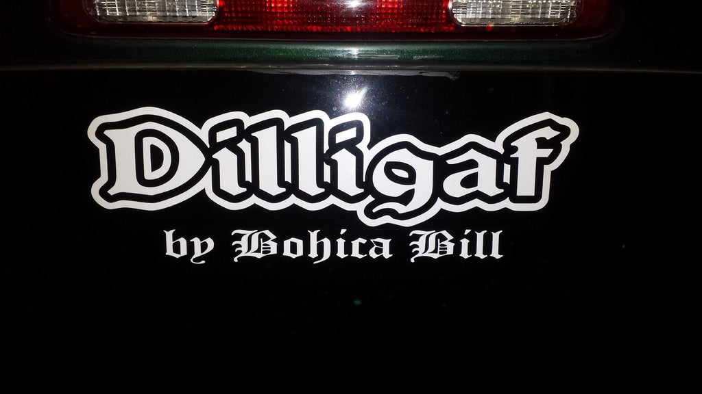 Dilligaf Car Bumper Sticker