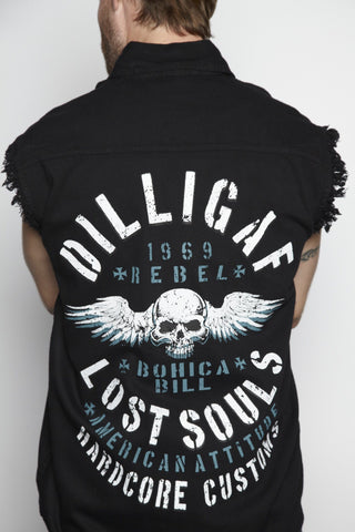 Lost Souls Frayed Button Shirt