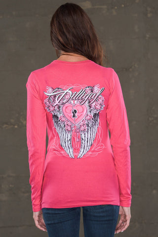 Key to my Heart Pink Long Sleeve