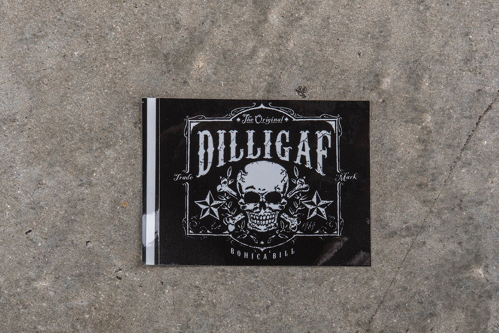 Dilligaf Skull Sticker