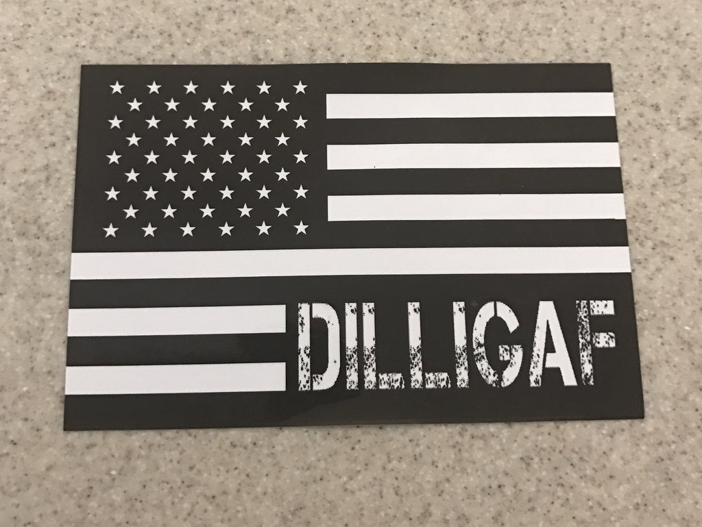 Dilligaf Flag Sticker