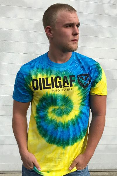 Blue Yellow Dilligaf Fever Swirl