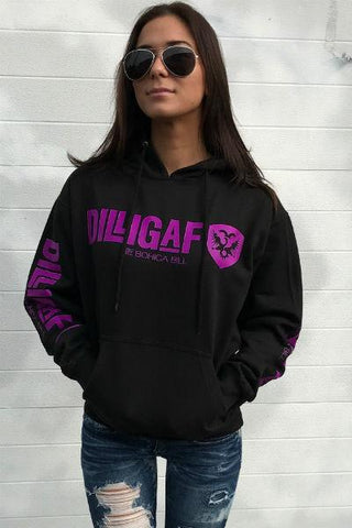 Our Dilligaf Classic Neon Pullover Hoody