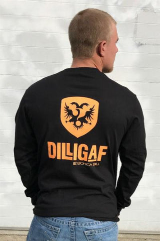 Dilligaf Classic Orange Long Sleeve Tee