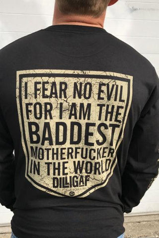 I Fear No Evil  Black Long Sleeve Tee