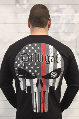 Red Lives Matter Punisher Long Sleeve