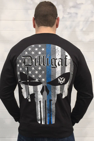 Blue Lives Matter Punisher Long Sleeve