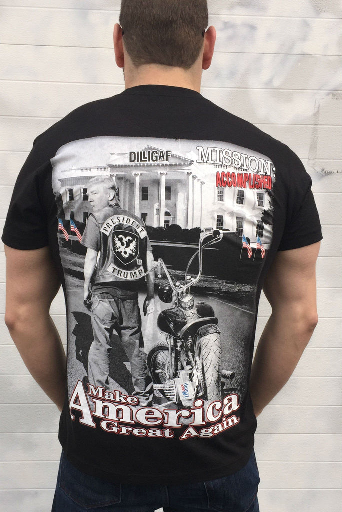 Mission Accomplished America Dilligaf Tee