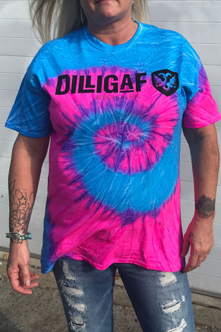 Blue Pink Swirl - Full figure shirt