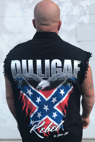 Dilligaf Southern Rebel Frayed Button Shirt
