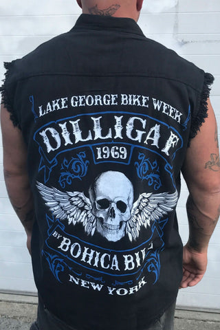 Dilligaf Bike Week Frayed Button Shirt