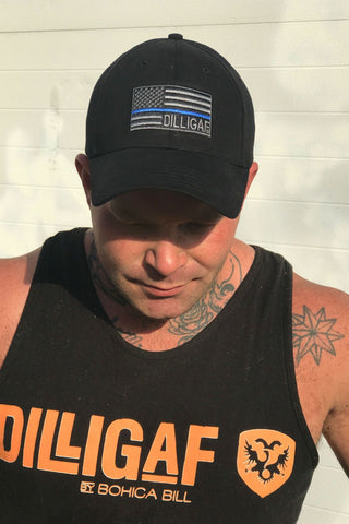 Blue Lives Matter Dilligaf Hat