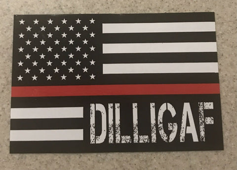 Red Lives Matter Dilligaf Flag
