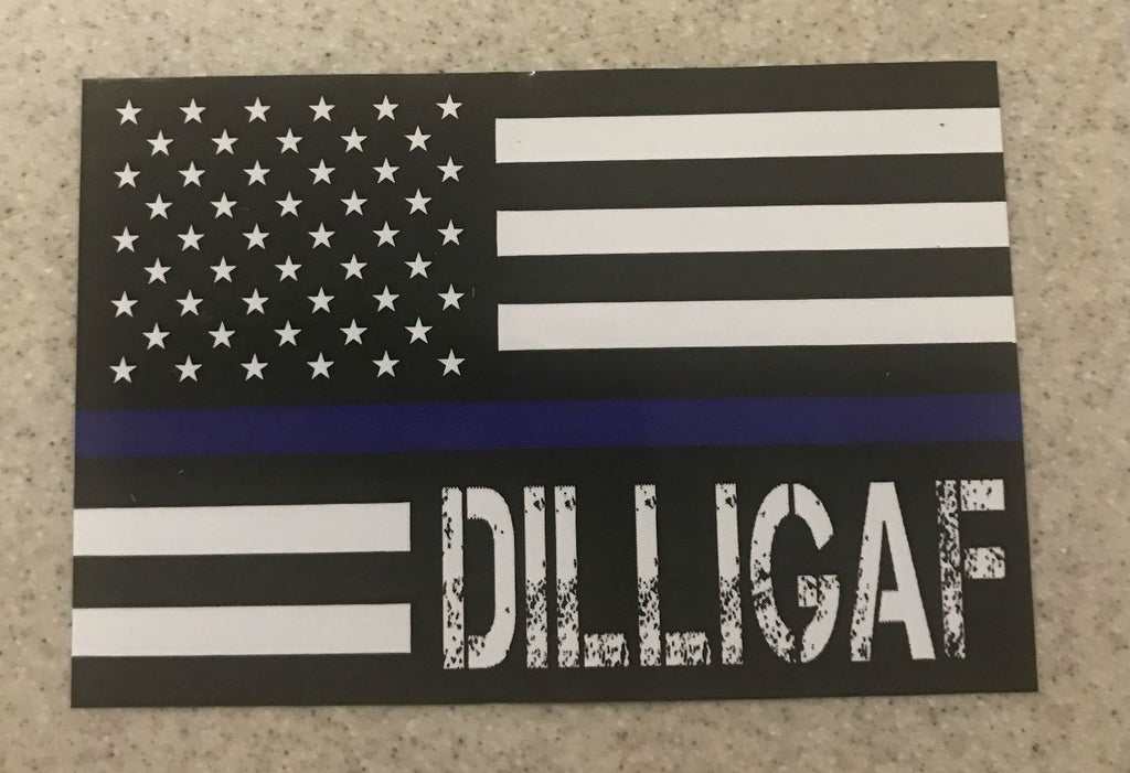 Blue Lives Matter Dilligaf Flag