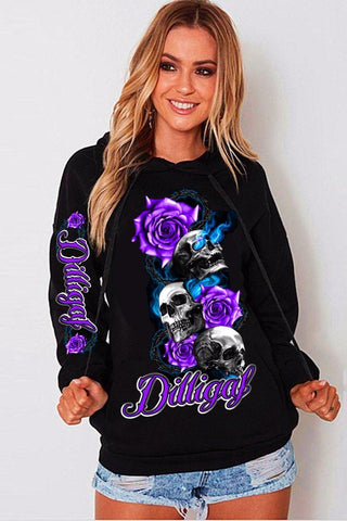 Purple Skull Rose from Heaven