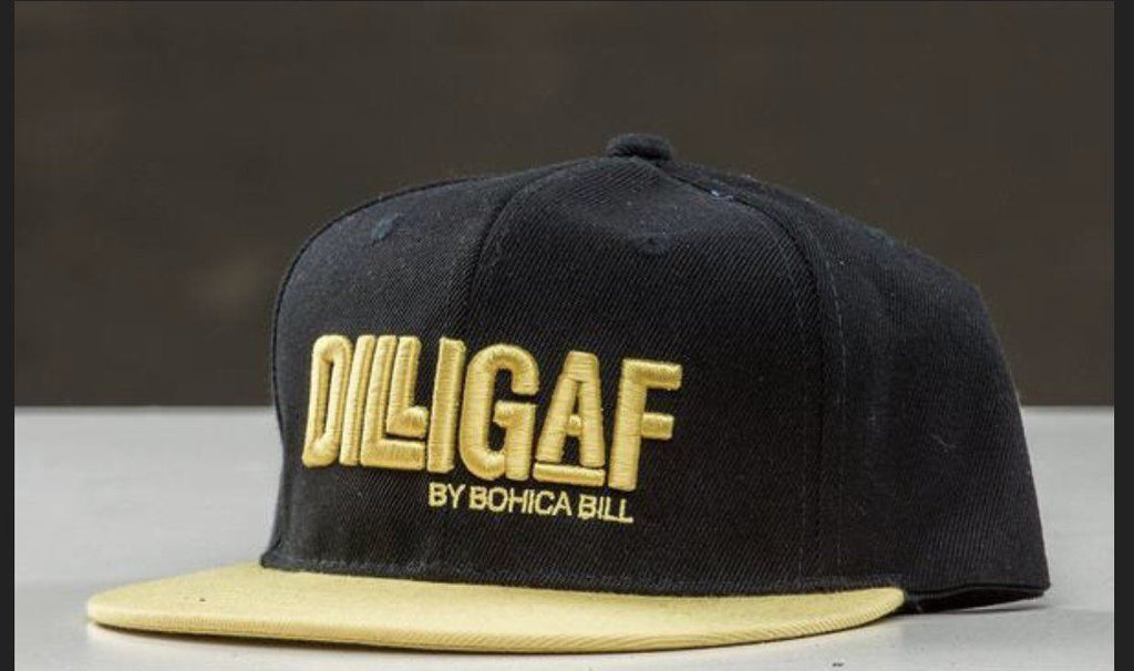 Yellow Dilligaf Flat Brim Snap Back Hat