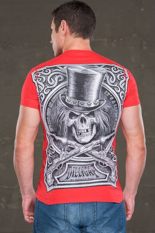 Old Western Dilligaf Skull Top Hat
