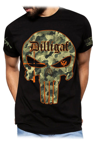 Dilligaf Camo Punisher Tee