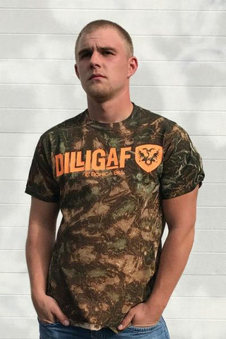 Dilligaf Camo Orange Classic Tee