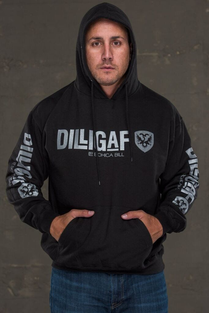 Dilligaf Classic Pullover Hoody with Silver Logo