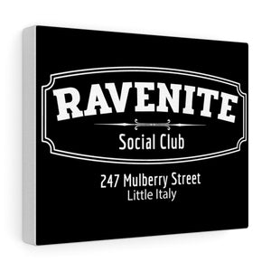 Gambino Family - Ravenite Social Club Canvas Gallery Wrap in Black
