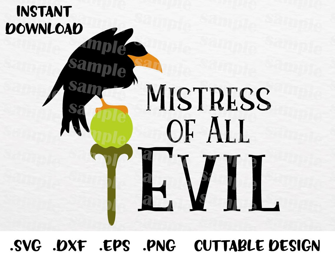 Maleficent Quote Mistress Of Evil Villain Inspired Cutting File In Svg Esp Dxf Png Formats