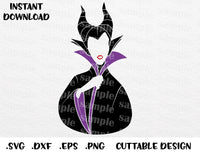 Maleficent Sleeping Beauty Villain Inspired Cutting File In Svg Esp Dxf Png Formats