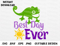 Pascal Tangled, Best Day Ever, Disney Inspired Cutting File in SVG, ESP,  DXF, PNG Formats