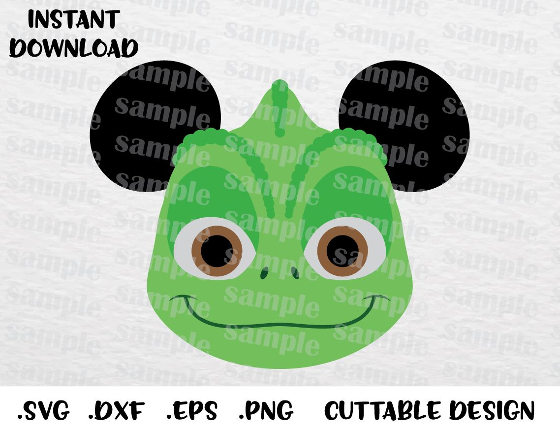 Pascal Rapunzel Mickey Ears Inspired Cutting File In Svg Esp Dxf Pn Enchantedsvg