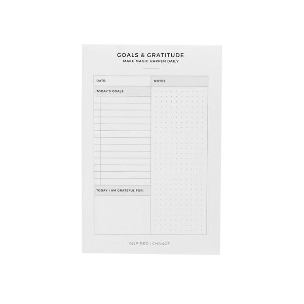 Goals & Gratitude Notepad