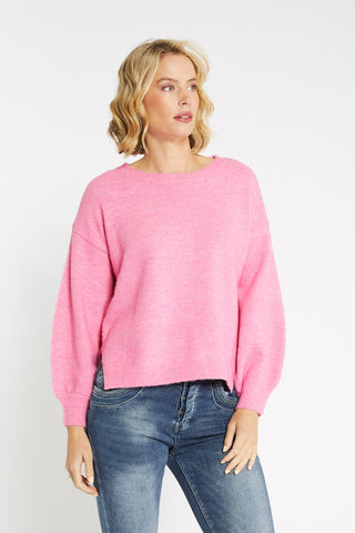 Bande Colour Block Geo Knit Apricot Blush