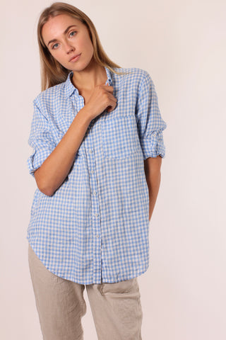 Alessandra Picnic Splice Dress Azure